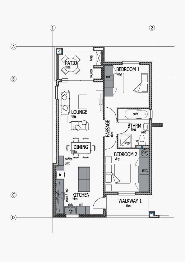 Apartments Unit Layout - Type A