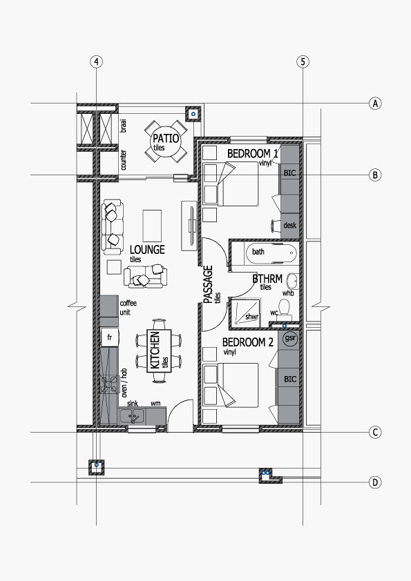 Apartments Unit Layout - Type C