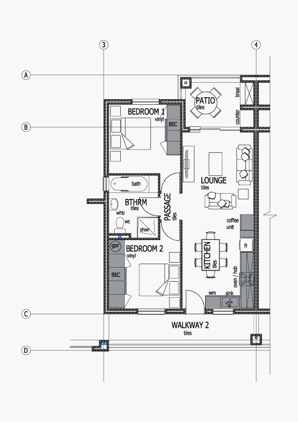 Apartments Unit Layout - Type E