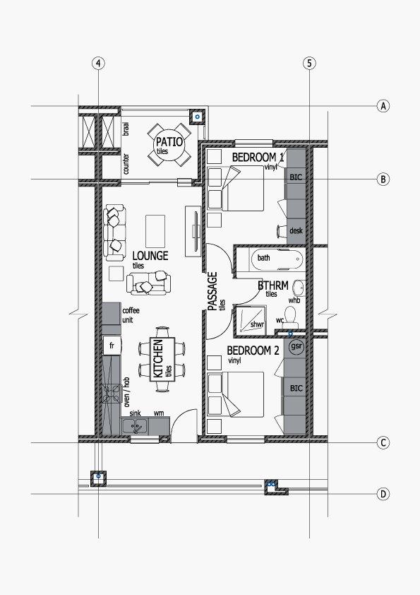 Apartments Unit Layout - Type F